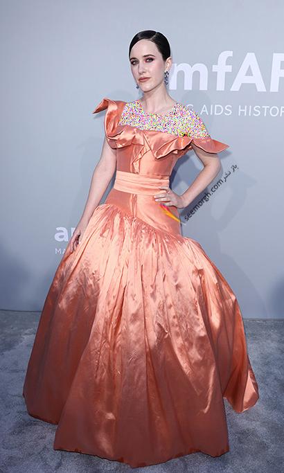 مدل لباس ریچل بروزناهان Rachel Brosnahan در مراسم amfAR 2021