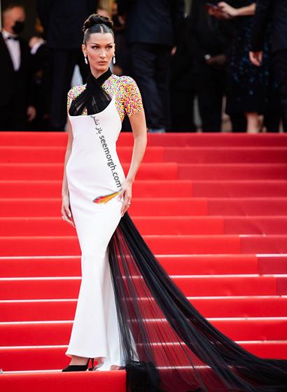 بهترین مدل لباس در جشنواره کن 2021 Cannes - بلا حدید Bella Hadid