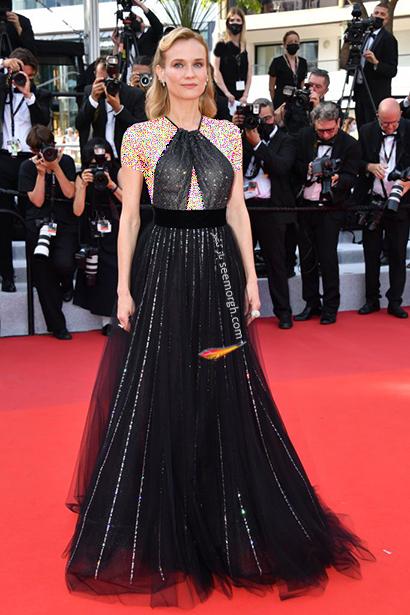 بهترین مدل لباس در جشنواره کن 2021 Cannes - دانیل کروگر
