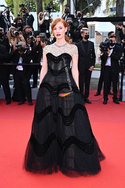 بهترین مدل لباس در جشنواره کن 2021 Cannes - جسیکا چستین Jessica Chastain