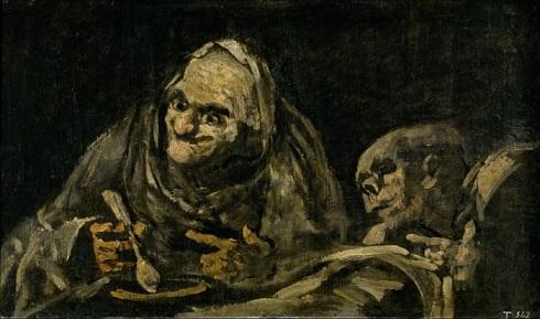 پیرمردان در حال خوردن سوپ اثر خوزه گویا