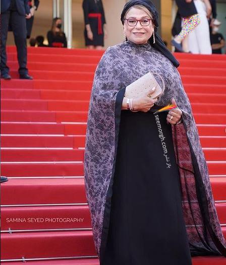 لباس گوهر خیر اندیش در جشنواره کن 2021 Cannes از برند سایه موسوی