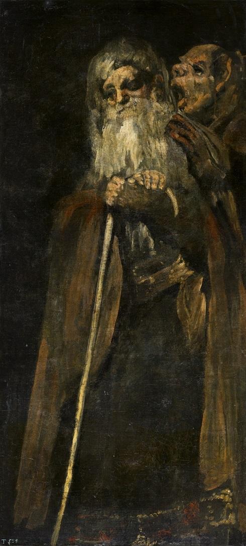 دو پیرمرد یکی از نقاشی های سیاه گویا