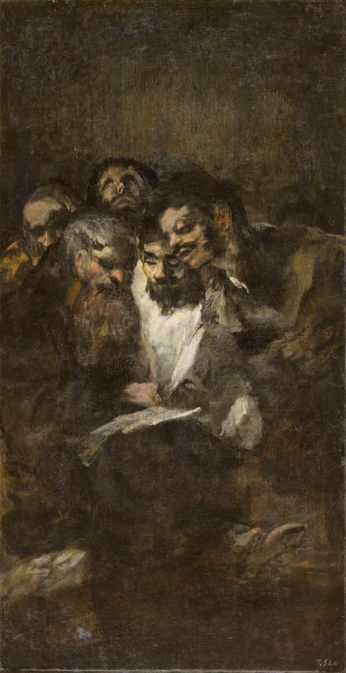 نقاشی مردان در حال مطالعه