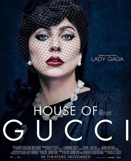 لیدی گاگا روی پوستر فیلم خاندان گوچی