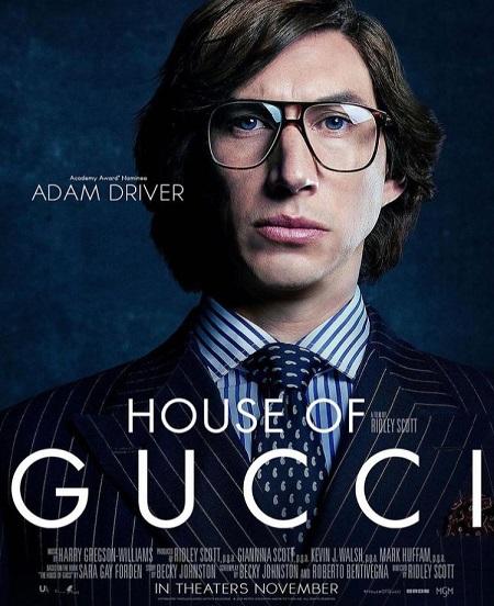 آدام درایور روی پوستر فیلم خاندان گوچی