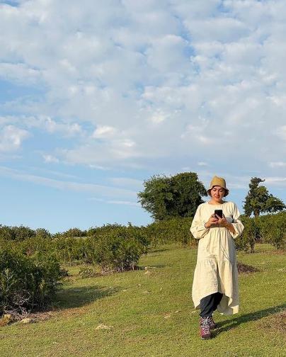 گردش هانیه توسلی در طبیعت