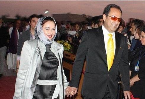 کتایون ریاحی و همسر دومش مسعود بهبهانی