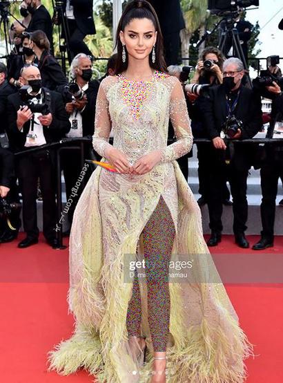 مدل لباس مه لقا جابری در جشنواره کن 2021 Cannes - مدل شماره 3