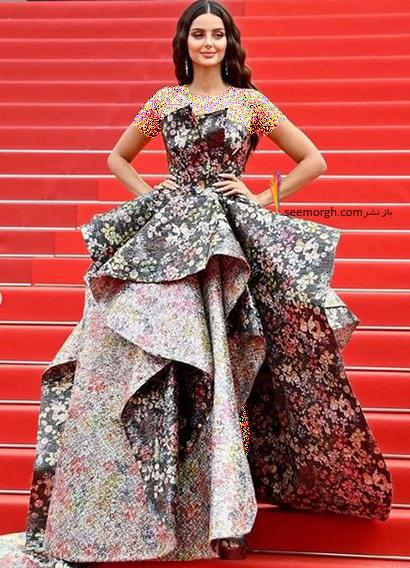 مدل لباس مه لقا جابری در جشنواره کن 2021 Cannes - مدل شماره 5
