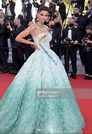 مدل لباس مه لقا جابری در جشنواره کن 2021 Cannes - مدل شماره 1