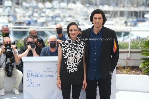 آدام درایور و ماریون کوتیار در جشنواره فیلم کن 2021