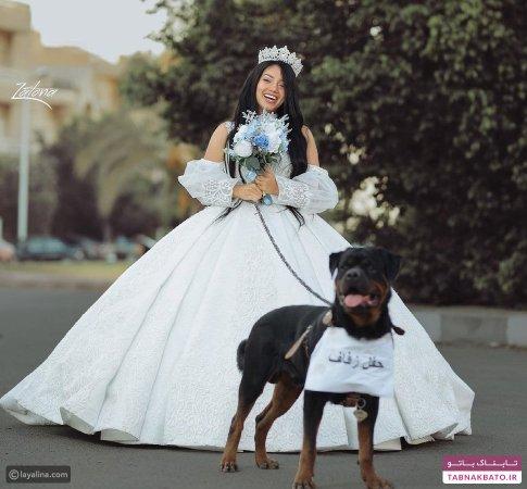 انتشار عکس جنجالی از ازدواج با سگ