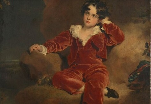 نقاشی پسر قرمزپوش