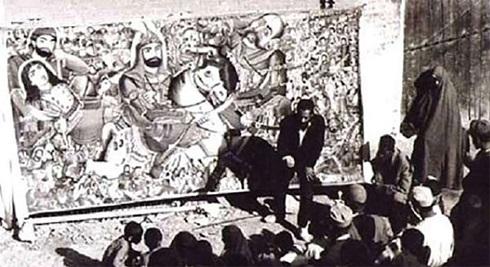 نمایی از نقالی در تهران- دوره پهلوی اول