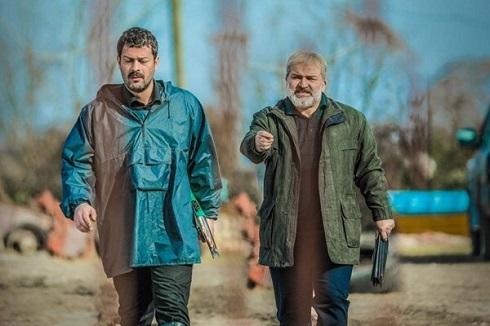 مهدی سلطانی و پژمان بازغی در سریال افرا