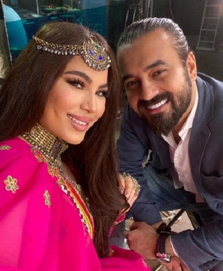 آریانا سعید خواننده پاپ افغان و همسرش