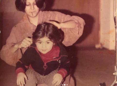 چهره آزاده صمدی در کودکی