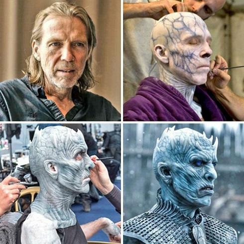 گریم ریچارد بریک در نقش نایت کینگ سریال بازی تاج و تخت