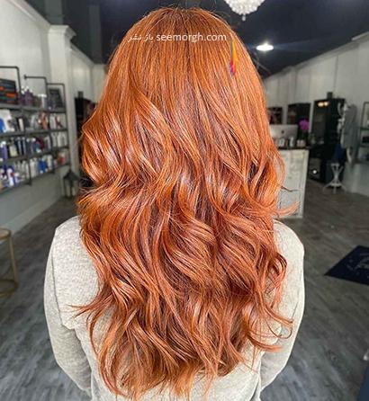 رنگ مو پاییز 2021 - رنگ مو نارنجی کدو تنبلی