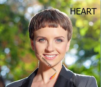 مدل مو کوتاه برای صورت قلبی,مدل مو کوتاه را بر اساس فرم صورت تان انتخاب کنید