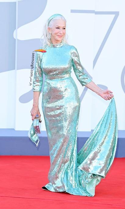 مدل لباس هلن میرن Helen Mirren در جشنواره ونیز 2021 Venice Film Festival