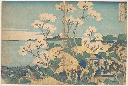 «منظره فوجی از گوتنیاما در شیناگاوا جاده توکایدو»(Fuji from Gotenyama at Shinagawa on the Tōkaidō)