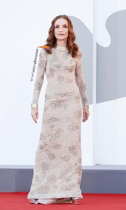 مدل لباس ایزابل هاپرت Isabelle Huppert در جشنواره ونیز 2021 Venice Film Festival