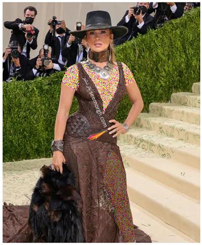 مدل لباس در مت گالا 2021 Met Gala جنیفر لوپز Jennifer Lopez