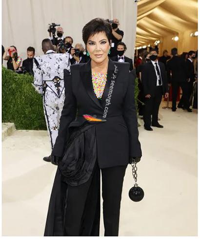 مدل لباس در مت گالا 2021 Met Gala کریس جنر Kris Jenner