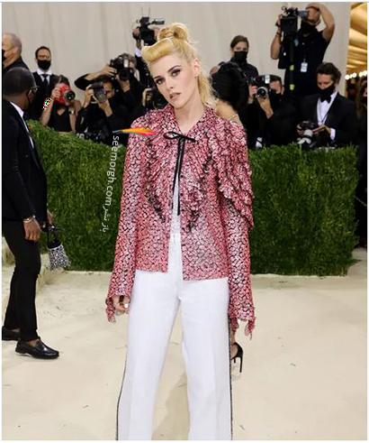 مدل لباس در مت گالا 2021 Met Gala کریستین استوارت Kristen Stewart