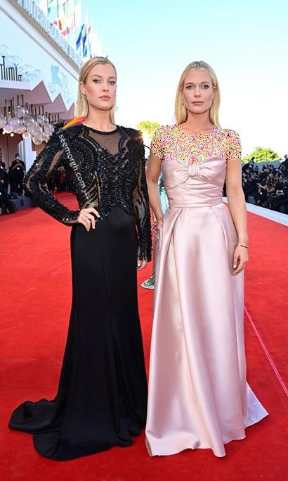 مدل لباس لیدی الیزا اسپنسر Lady Eliza Spencer و لیدی امیلیا Lady Amelia در جشنواره ونیز 2021 Venice Film Festival
