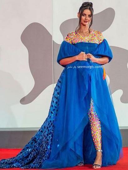 مدل لباس مه لقا جابری در جشنواره ونیز Venice Film Festival 2021 - عکس شماره 1