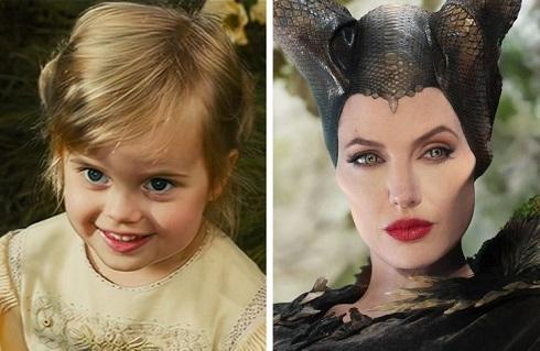 آنجلینا جولی و ویوین جولی – پیت در فیلم «مالفیسنت» (Maleficent)