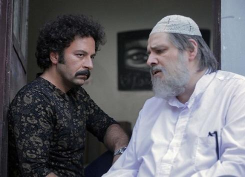 حسام منظور و سیدمهرداد ضیایی در سریال نجلا
