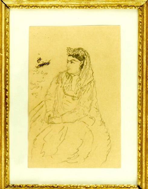 یکی از زنان حرمسرای ناصری