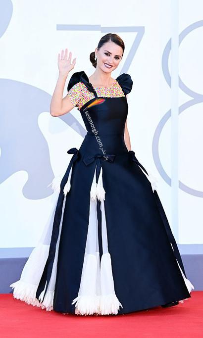 مدل لباس پنه لوپه کروز Penelope Cruz در جشنواره ونیز 2021 Venice Film Festival