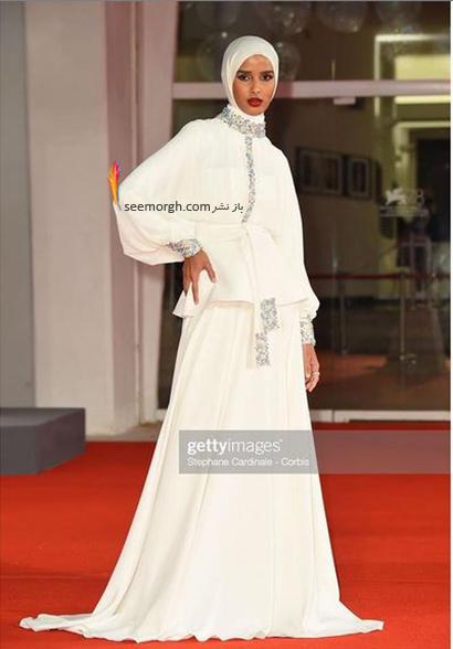 مدل لباس روضه محمد، تنها مدل محجبه در جشنواره ونیز 2021 - عکس شماره 5