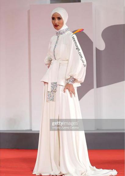 مدل لباس روضه محمد، تنها مدل محجبه در جشنواره ونیز 2021 - عکس شماره 4
