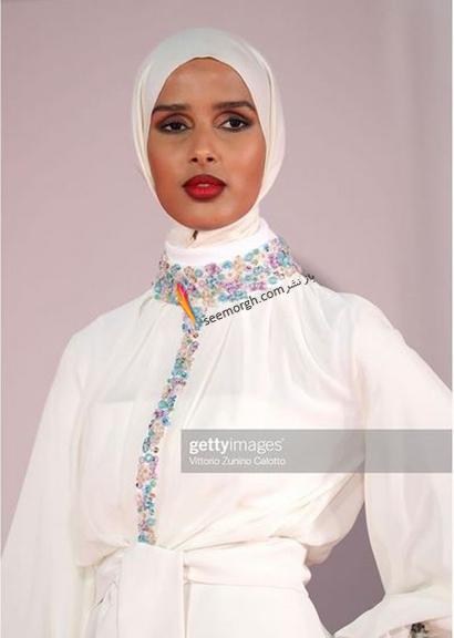 مدل لباس روضه محمد، تنها مدل محجبه در جشنواره ونیز 2021 - عکس شماره 3