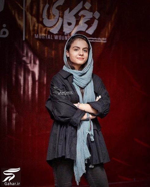 سارا حاتمی بازیگر نقش مائده در اکران مردمی سریال زخم کاری