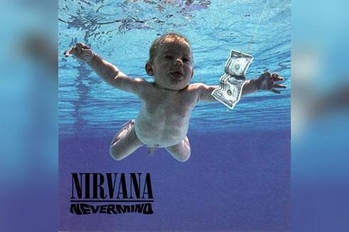 کاور آلبوم Nevermind گروه موسیقی راک در 30 سال پیش