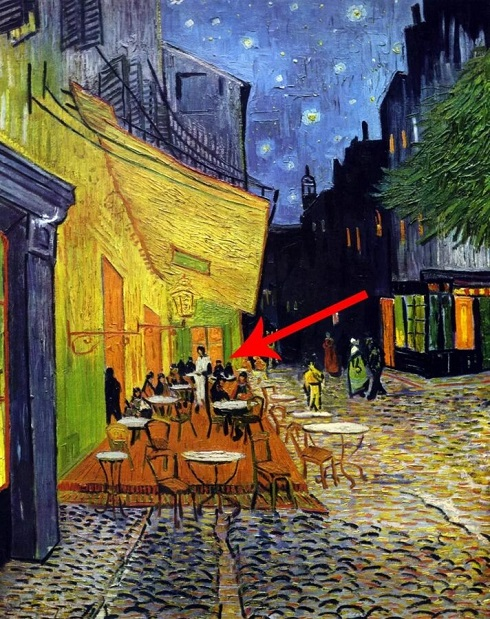 تراس کافه در شب اثر ون گوگ