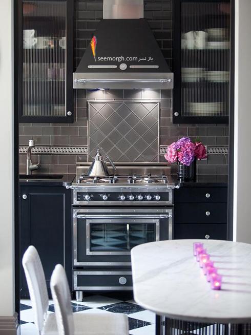 دکوراسیون آشپزخانه با رنگ مشکی
