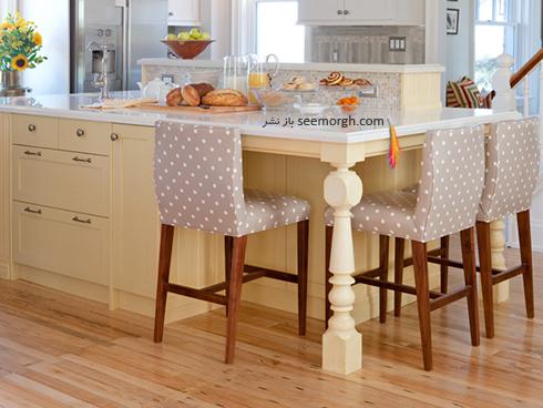 دکوراسیون آشپزخانه به رنگ زرد روشن