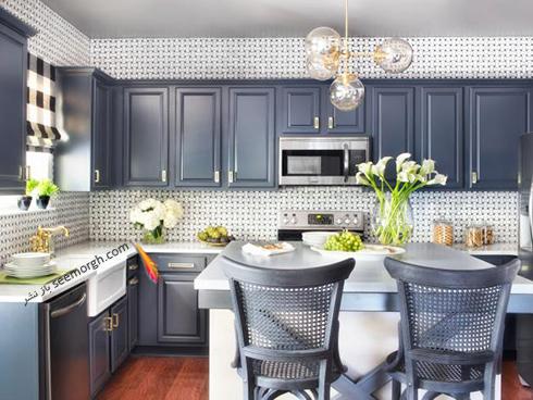 دکوراسیون آشپزخانه با رنگ خاکستری