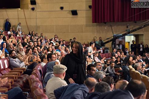 مستانه مهاجر در اختتامیه ششمین جشنواره فیلم شهر