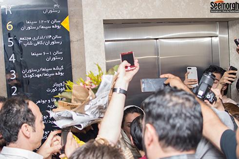 واکنش مردم به حضور هدیه تهرانی در پردیس سینمایی کورش