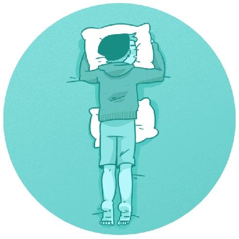 خوابیدن روی معده با قرار دادن یک بالش پایین شکم تان