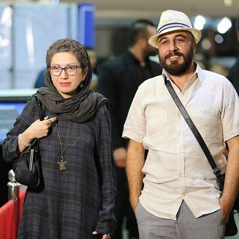 رضا عطاران به همراه همسرش در جشن حافظ